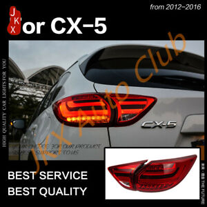 For Mazda CX5 2013 14 15 2016 LED Tail lights Assembly Red LED Rear Brake Lamps