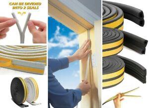 Window Door Self Adhesive Seal Strip Tape Anti-Collision Rubber Foam Draught 5M