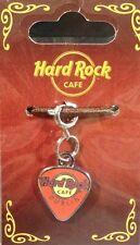 """Hard Rock Cafe DUBLIN GUITAR PICK """"CHARM"""" for BRACELET (Orange) New!"""