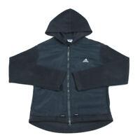 Hooded Fleece Jacket   Medium   Coat Sports Warm Full Zip Vintage Retro Hoodie