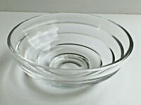 Nachtmann Contemporary Crystal Step / Ring / Band Bowl Signed Excellent