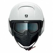 Shark Raw Blank Motorcycle Helmet White size Adult Small