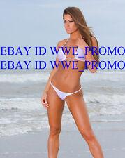 MISS TESSMACHER Brooke Adams PHOTO 8x10 PICTURE In White Bikini  #64BRH