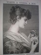 Beecham's Pills Pill box art advert 1888