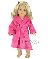 """Hot Pink Robe Bathrobe for American Girl 18""""Doll Clothes  Most Variety"""