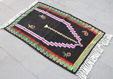 Turkish Kilim Rug 32''x48'' Hand Woven Erzurum Kilim 83x122cm
