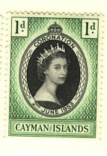 CAYMAN ISLANDS 1953 CORONATION BLOCK OF 4 MNH