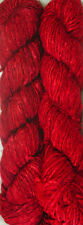 500grm. Himalaya Recycled Red Soft Sari Silk Yarn Knitting 5 Skein