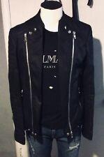 Balmain Waxed Cotton Biker Jacket