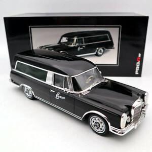 SCHUCO 1/18 Mercedes-Benz 600 HEARSE  FUNERAL CAR 1965 CARRO FUNEBRE Black Model