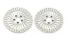 HARLEY FRONT BRAKE DISC ROTORS Roadking Streetglide Electra 2000-2007 Polished