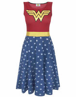 Wonder Woman Women's Cosplay Costume Dress Ladies Fancy Dress Party