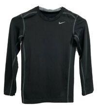 Nike Hyper warm pro combat youth boys t-shirt long sleeve black size M