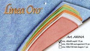 Asciugamani Ospite 10 pezzi in spugna di cotone 40x60 colori assortiti Arina