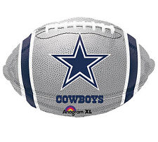 "NFL Dallas Cowboys Football 18"" Foil Balloons Double Sided 3 Pack Party Helium"
