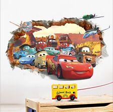 3D Cars McQueen Mater Out Wall Decal Sticker Decals Kids Room Decor Mural