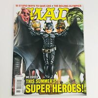 Mad Magazine August 2008 No. 492 The Summer's Super Heroes Very Fine VF 8.0