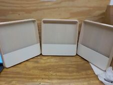 Decorative Tray Large White - Modern by Dwell Magazine- 3 PACK