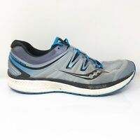 Saucony Mens Hurricane ISO 4 S20411-2 Black Gray Running Shoes Lace Up Size 12