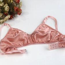 Womens Silk Wirefree Underwear No Padding 36A/B Soft Sleep Bra Free Shipping