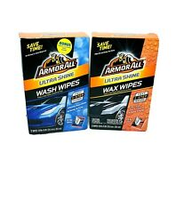 Armor All Ultra Shine Wash Wipes And Wax Wipes 12 Count Boxes Brand New