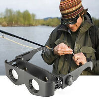 Portable Glasses Style Magnifier Telescope Binoculars For Fishing Hiking SportBH