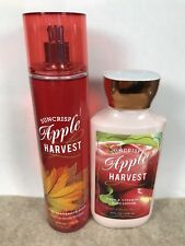 2pc Fall Set Bath & Body Works SUNCRISP APPLE HARVEST Fragrance Mist + Lotion