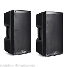 "2 x Alto TS210 10"" Powered Active 2200W DJ PA Speaker or Monitor 2Ch Mixer 10Kg"