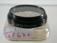 Orig Leica Leitz UV-A Aufsteck Push-on Objektiv Filter Lens 36mm 36 A36 671/9