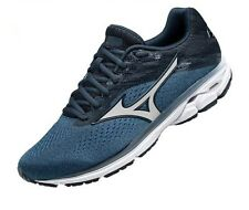 Mizuno Men's Wave Rider 23 Running Shoe, Campanula-Silver, 13 D US