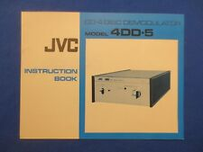JVC 4DD-5 CD-4 Owner Instruction Manual Factory Original Real Thing