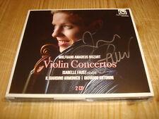 Signé signed Isabelle Faust Mozart Violinkonzerte Harmonia Mundi 2cd Neuf New