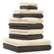 Betz lot de 10 serviettes de bain de toilette d'invité gants de toilette Premium