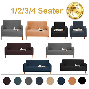 Sofa Covers Easy Fit Stretch Protector Couch Thick stretch Slipcover Settee UK