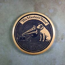 """Vintage Style Label Fridge Magnet 2 1/4"""" RCA Gramophone Nipper His Masters Voice"""