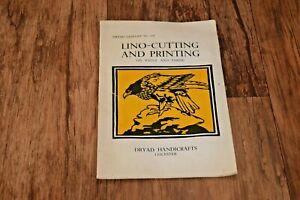LINO CUTTING & AND PRINTING DRYAD CRAFTS LINO CUTS PATTERN BLOCK PRINT 1955 Rare