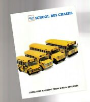 1989?1990 Chevy SCHOOL BUS Brochure: S70 Forward Control,B60 Chassis,Cutaway Van
