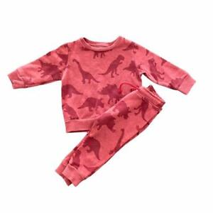 BOYS ALL OVER DINOSAUR PRINT NEXT JUMPER & JOGGERS OUTFIT 9-12 MONTHS