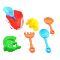 7Pcs Mini Beach Sand Kit Shovel Rake Bucket Molds Garden Sandpit Kids Play Toy