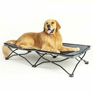Maxpama 47 inches Large Elevated Dog Bed CotCooling Raised Pet Cots for Small...
