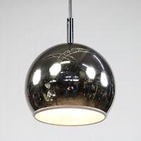 Chrom Kugel Pendel Lampe Decken Leuchte Vintage Chrome Ball Lamp 60er 70er