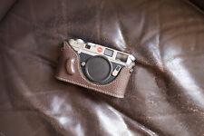 Caso de cámara de Cuero Genuino Real Medio Bolso Cubierta Para Leica Q Typ116 u inferior abierta