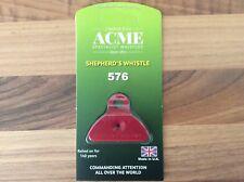 Acme Shepherds Plastic Lip Whistle IN RED. Sheep Dog Training Herding