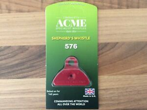 GENUINE Acme Shepherds Plastic Lip Whistle IN RED. Sheep Dog Training Herding
