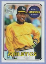 2021 TOPPS RICKEY HENDERSON 70 YEARS OF TOPPS CHROME REFRACTOR 70YTC-19 MINT