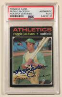 1971 Topps REGGIE JACKSON Signed Autograph Baseball Card PSA/DNA #20 Oakland A's