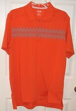 Mens ADIDAS~ORANGE POLO SHIRT~NEW~size MEDIUM~$75 Rugby GOLF Performance Top