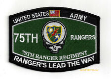75th RANGER REGIMENT PATCH US ARMY RANGERS FORT BENNING SPECIAL OP COMMAND SKULL