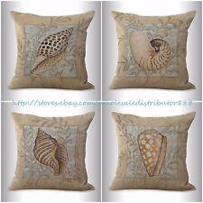 US SELLER-4pcs throw pillows couch cushion covers beach sea life
