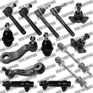 Suspension Ball Joint Lower Upper Pitman Idler Arm Tie Rods For Chevy K3500 4WD